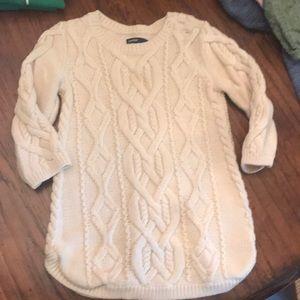 Baby Gap 18/24 month creme tunic sweater